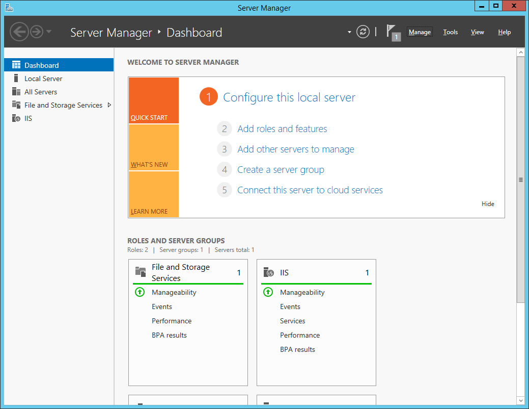 Screenshot Server Manager Application 2