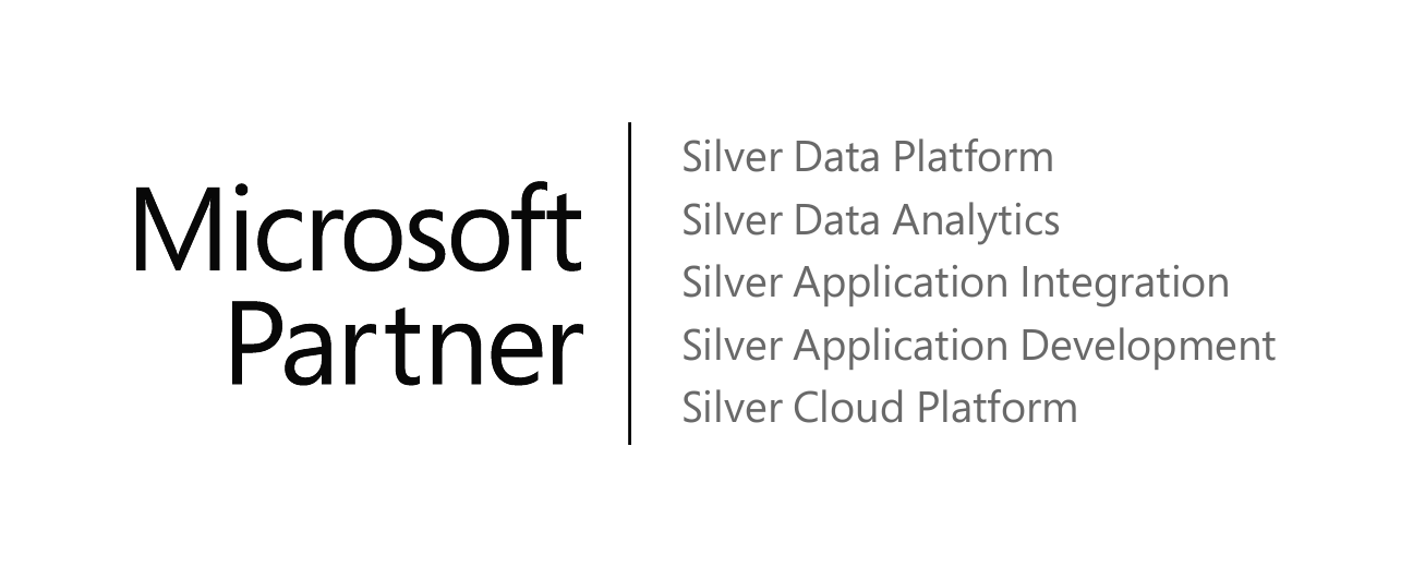 Microsoft Partner Logo, Data Platform, Data Analytics, Collaboration and Content, Application Integration, Application Development