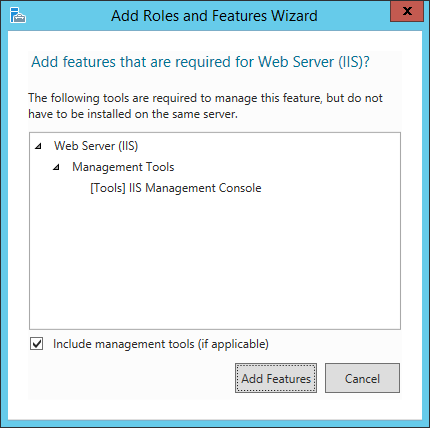 Screenshot Add Required Features