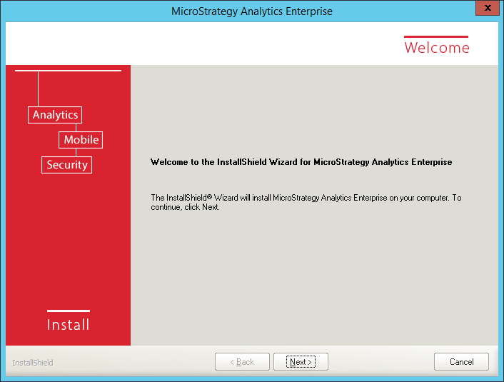 Screenshot MicroStrategy Welcome Page
